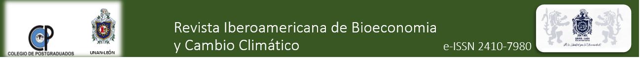 Revista iberoamericana de Bioeconomi y Cambio Climatico eISSN 2410-7980