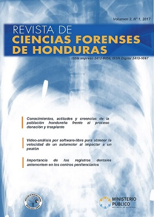 Revista de Ciencias Forenses de Honduras Vol 3, N°1, 2017